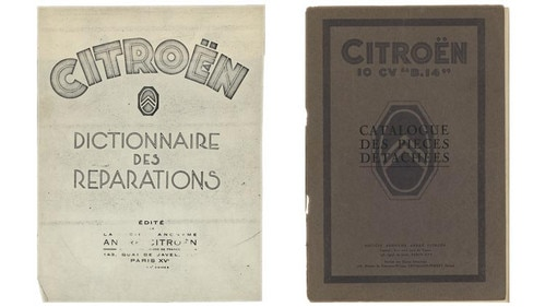 Le premier catalogue de réparation Citroën