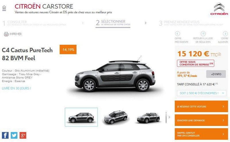 CITROËN CARSTORE : EN ROUTE VERS LE E-COMMERCE