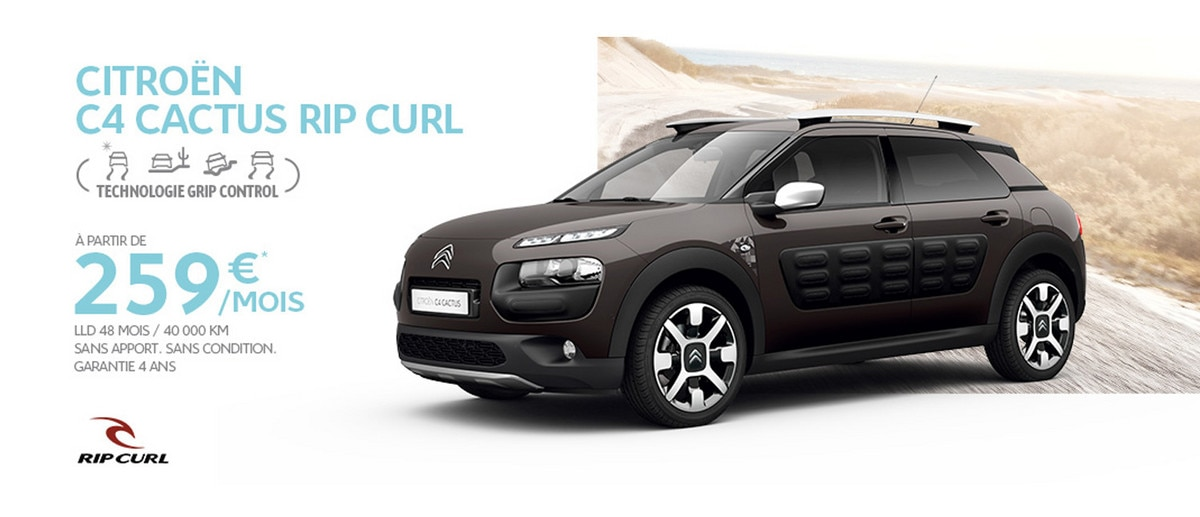 citro n c4 cactus rip curl citro n france. Black Bedroom Furniture Sets. Home Design Ideas