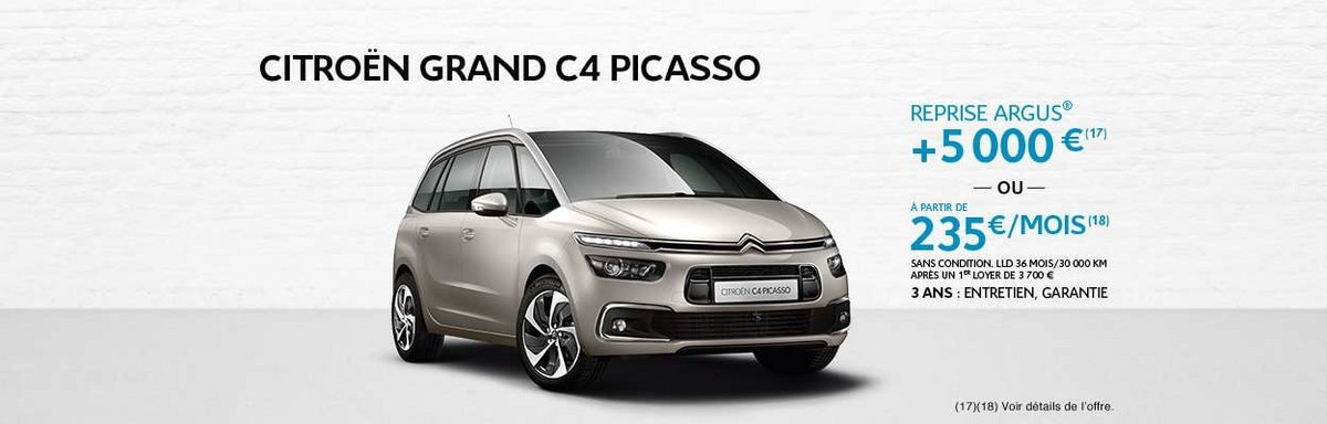 grand c4 picasso citroen 7 places 2017 dimensions coffre citro n france. Black Bedroom Furniture Sets. Home Design Ideas