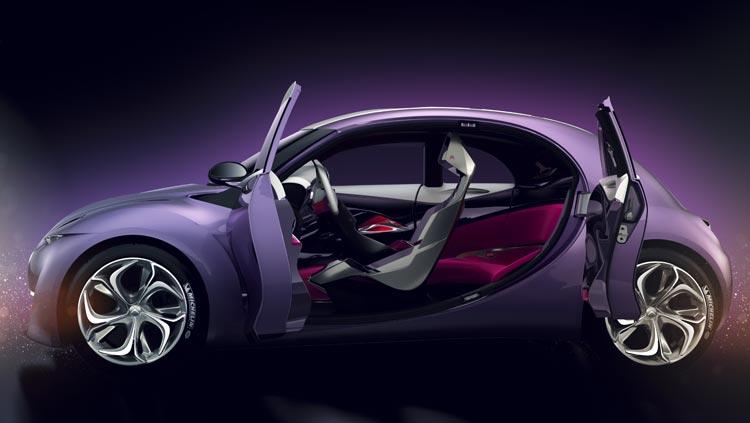 Concept-car Citroën Revolte - Des couleurs et matières audacieuses